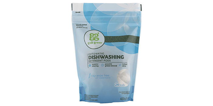 Grab Green Naturally-Derived Plant & Mineral-Based Dishwasher Detergent