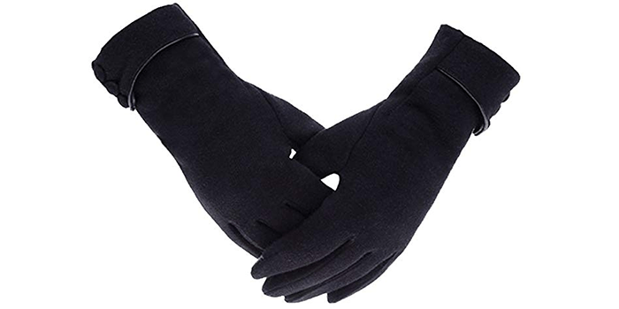 Hellofuture Women's Thick Touch Screen Winter Gloves