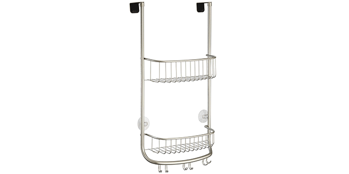 InterDesign Forma Bathroom Over the Door Shower Caddy