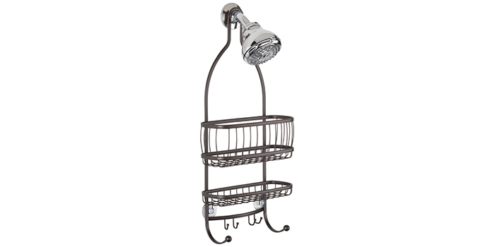 InterDesign York Metal Wire Hanging Shower Caddy