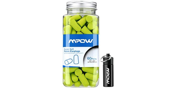 Mpow Foam Earplugs with Aluminum Carry Case