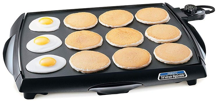 Presto Tilt 'n Drain Big Griddle Cool-Touch Electric Griddle