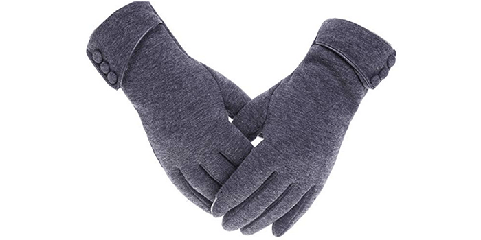 Tomily Womens Touch Screen Phone Fleece Windproof Gloves