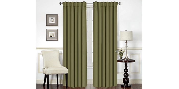 Utopia Bedding Blackout Insulating Window Curtains