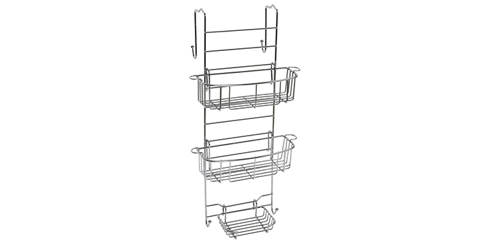 Zenna Home E7803STBB Over-The-Shower Door Caddy